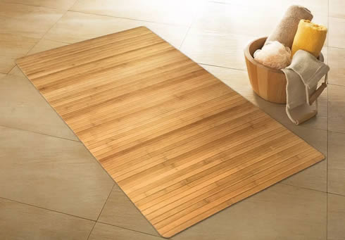 clean your bamboo bathroom mats