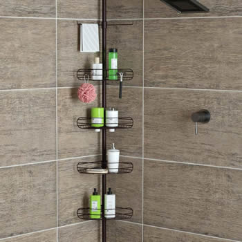 Stop shower caddy from falling