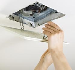 installing vent fan in a bathroom